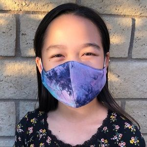 Other - Kids & Preteen Tie Dye Soft Jersey Face Mask